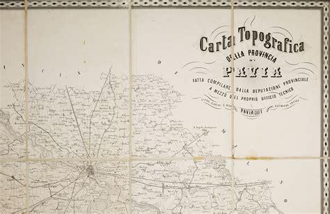 cartina pavia e provincia carta topografica della provincia di pavia fatta compilare