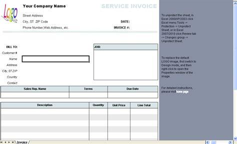 general service invoice template invoice software