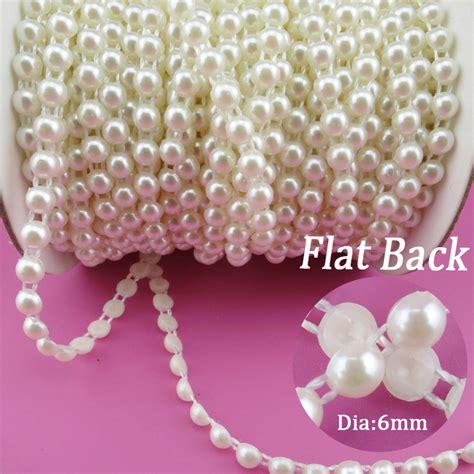 aliexpress com buy 25m roll flat back pearl trim 6mm 7