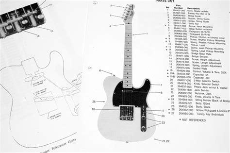 fender squier telecaster   parts list photo