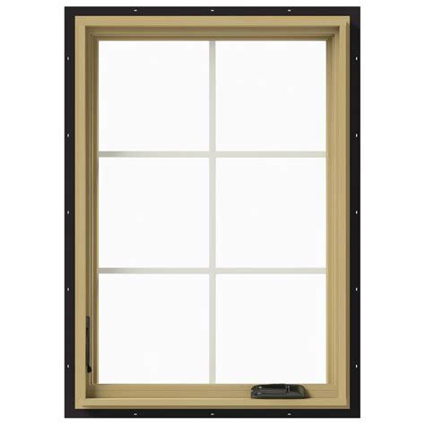 Jeld Wen Aluminum Clad Wood Windows Decor Jeld Wen 28 In X 40 In W 2500 Left Casement Aluminum Clad Wood Window Thdjw140100403