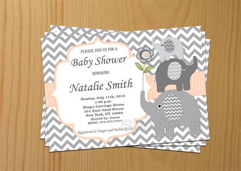 editable templates for baby shower invitations editable baby shower invitation elephant baby shower
