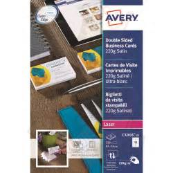avery labels for business cards avery business cards sided satin c32016 25 250