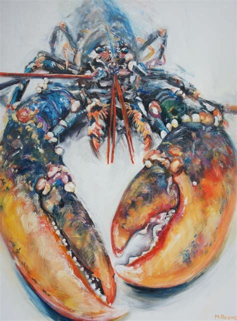 lobster painting by parsons artfinder artwork creatures air sea