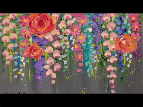 easy painting flower designs paint cotton swab flowers with acrylics easy step by