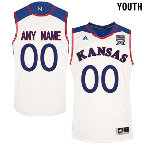 customized jersey ncaa basketball new kansas jayhawks white men s customized college