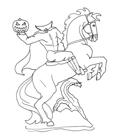 halloween coloring pages headless horseman pumpkin carving headless horseman templates google