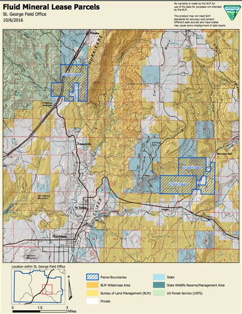 blm maps blm seeks comments on upcoming and gas lease sale in color country district st george news