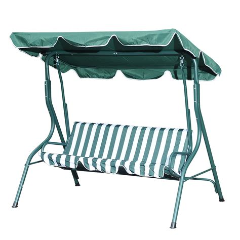 three seat swing shop sunjoy 3 seat steel traditional porch swing at lowes com