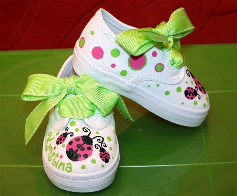 painted tennis shoes s custom painted tennis shoes pink and lime green