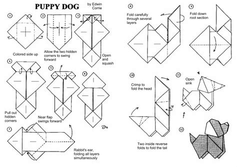 origami puppy diagramy