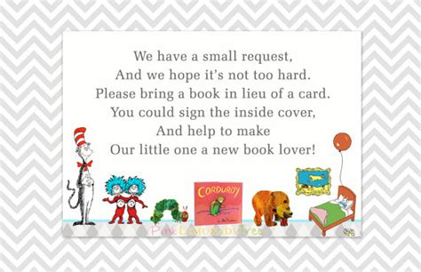In Lieu Of A Card Bring A Book Baby Shower by Book Request Cards Bring A Book In Lieu Of A Card