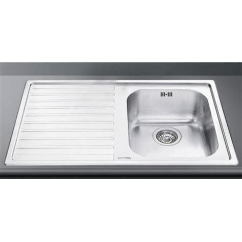 Smeg Kitchen Sinks Smeg Ll861s 2 Kitchen Sink 1 Bowl Brushed Stainless Steel Fab Appl