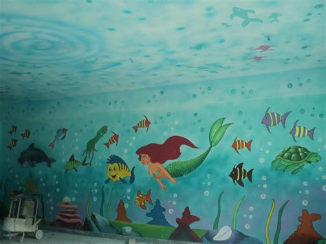 school painting 3d wall painting for play school