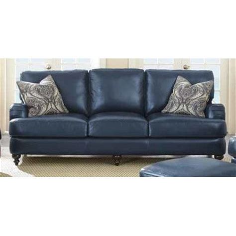 Blue Leather Sofa Bed 1000 Ideas About Blue Leather On Leather Recliner Traditional Sofa And