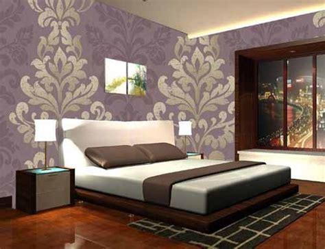 master bedroom wallpaper احدث ديكورات ورق حائط غرف نوم مودرن بالصور