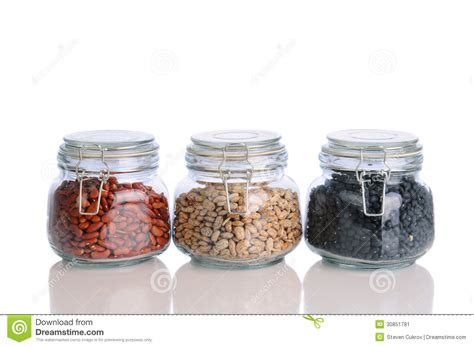 Pinto Bean Shelf by Beans In Storage Jars Stock Image Image 30851781