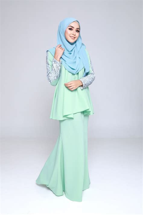 Baju Kurung Moden Warna Biru Turquoise baju kurung moden paddlepop green mint lovelysuri