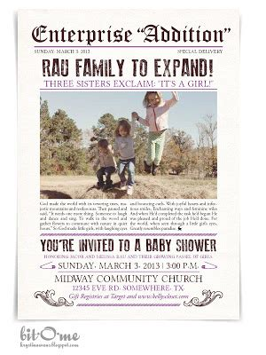 newspaper themed baby shower bit o me newspaper themed baby shower the invitation