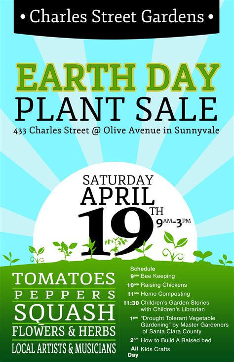 plant sale flyer template plant sale flyer schedule charles gardens