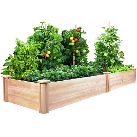 cedar raised garden bed expandable natural wood herbs