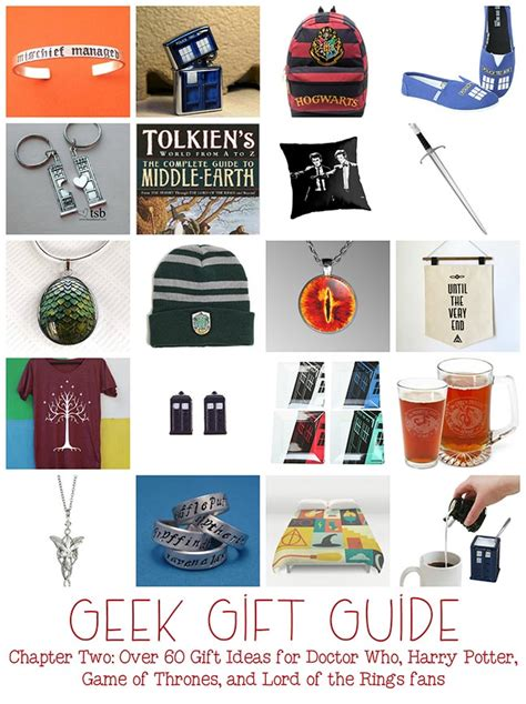 nerdy gifts gifts chapter two doctor who lotr harry potter