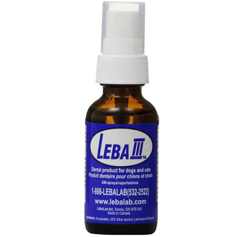 dental spray for dogs leba iii pet dental spray 1 oz