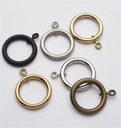 c rings for curtains brass curtain ring with eyelet for 1 quot rods rejuvenation