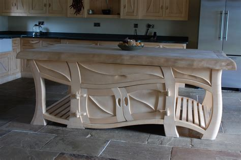 Handmade Kitchen Island - kitchens sculptural kitchens handmade kitchens