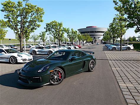 porsche brewster green brewster green cayman gt4 is truly one of a kind rennlist