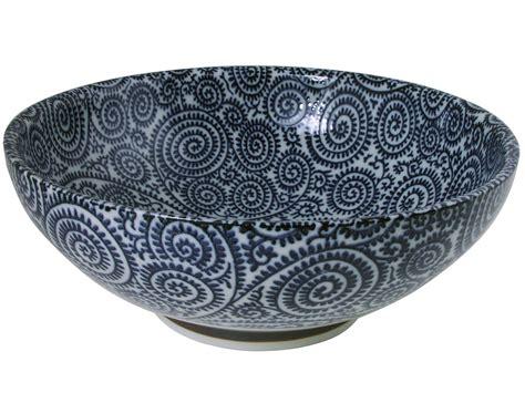 large ceramic bowls blue and white karakusa spiral vine large ceramic bowl