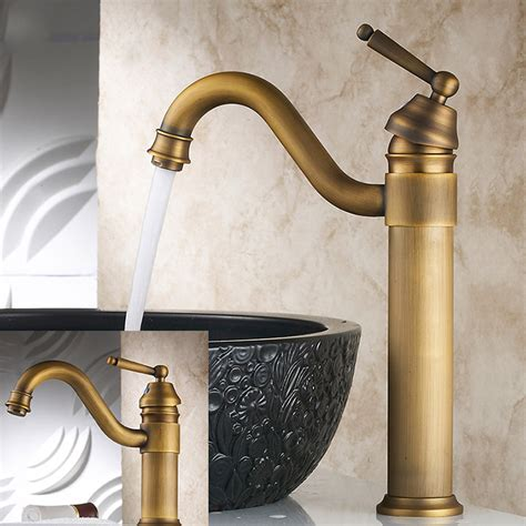 vintage style bathroom sinks vintage style tall antique brass faucet bathroom sink