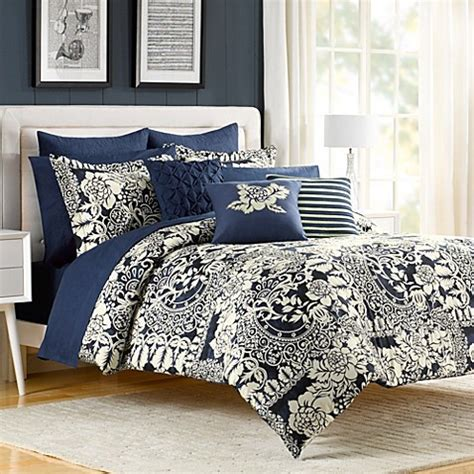 indigo bloom comforter and sham set bed bath beyond