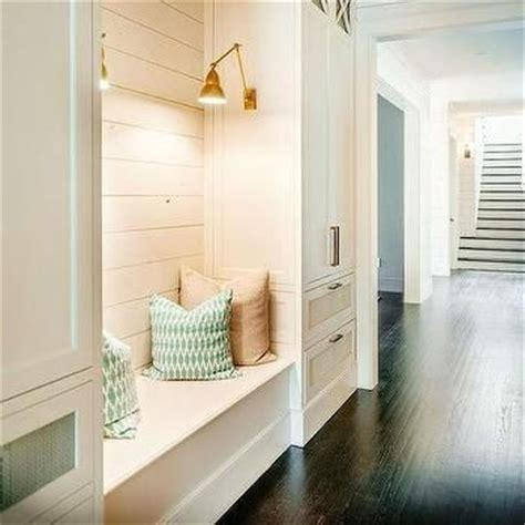 shiplap nook built in bench with shiplap farm house dream