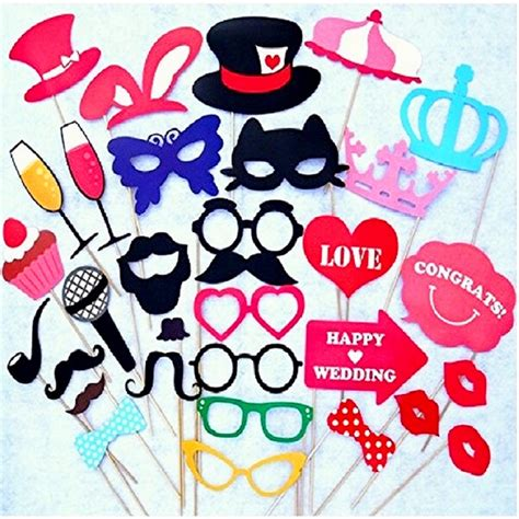 photo booth photo booth props wedding decorations 34pcs catglass