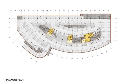 basement plan design 8 proposed corporate office gallery of baku white city office building proposal adec