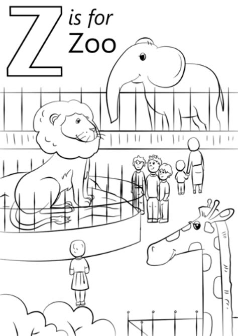 free coloring page zoo free printable zoo coloring pages for kids sketch coloring
