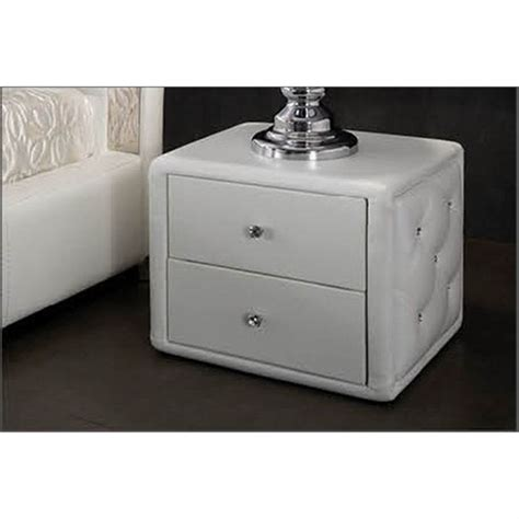 Le De Chevet Blanche 3982 by Table De Chevet Design Blanche Capitonnee Achat Vente