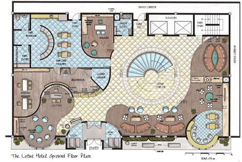 hotel lobby floor plan designs drawings by allison carroll at coroflot com