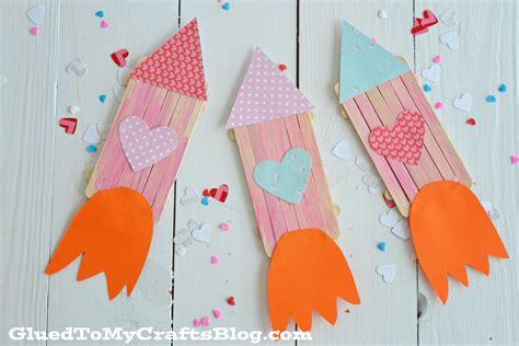 popsicle crafts for popsicle stick rocket ships kid craft glued