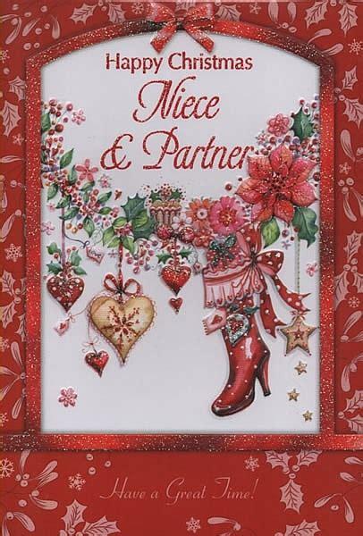 female relation christmas cards happy christmas niece partner