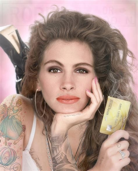 julia roberts tattoo white colour by jj