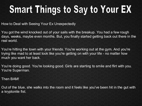 things to do to get out of your comfort zone smart things to say to your ex