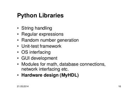 python string template fpga design with python and myhdl