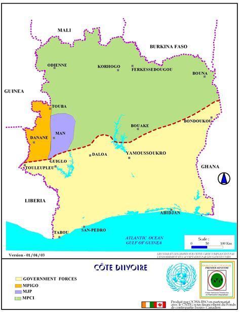 ivory coast map ivory coast conflict maps