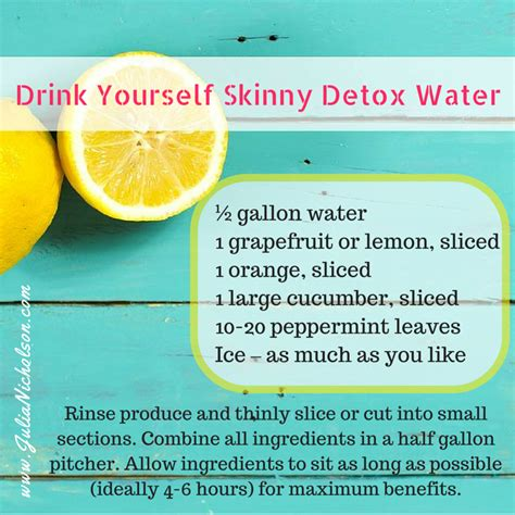 Can You Detox Your With Water by Drink Yourself Detox Water Nicholson