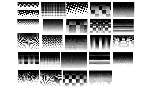 dot pattern vector pack halftone patterns vector pack