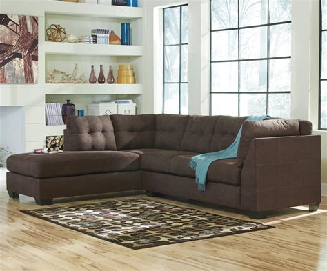 ashley walnut sofa benchcraft by ashley maier walnut 2 piece sectional with