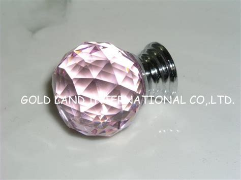 crystal bathroom knobs d30mm free shipping pink crystal furniture knob crystal