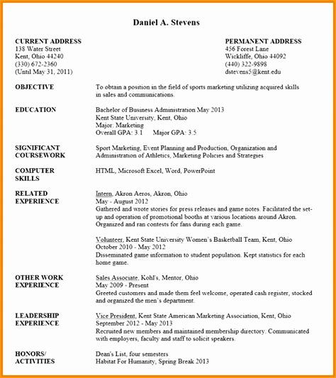 exle resume format for students 8 undergraduate students resume sle undergraduate resume template college 10 free word